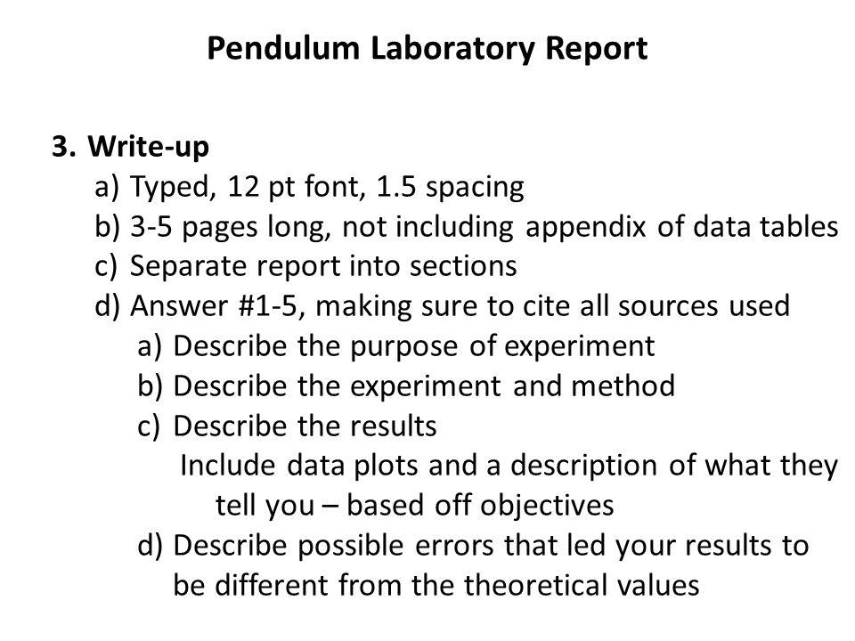 lab report compound pendulum in different
