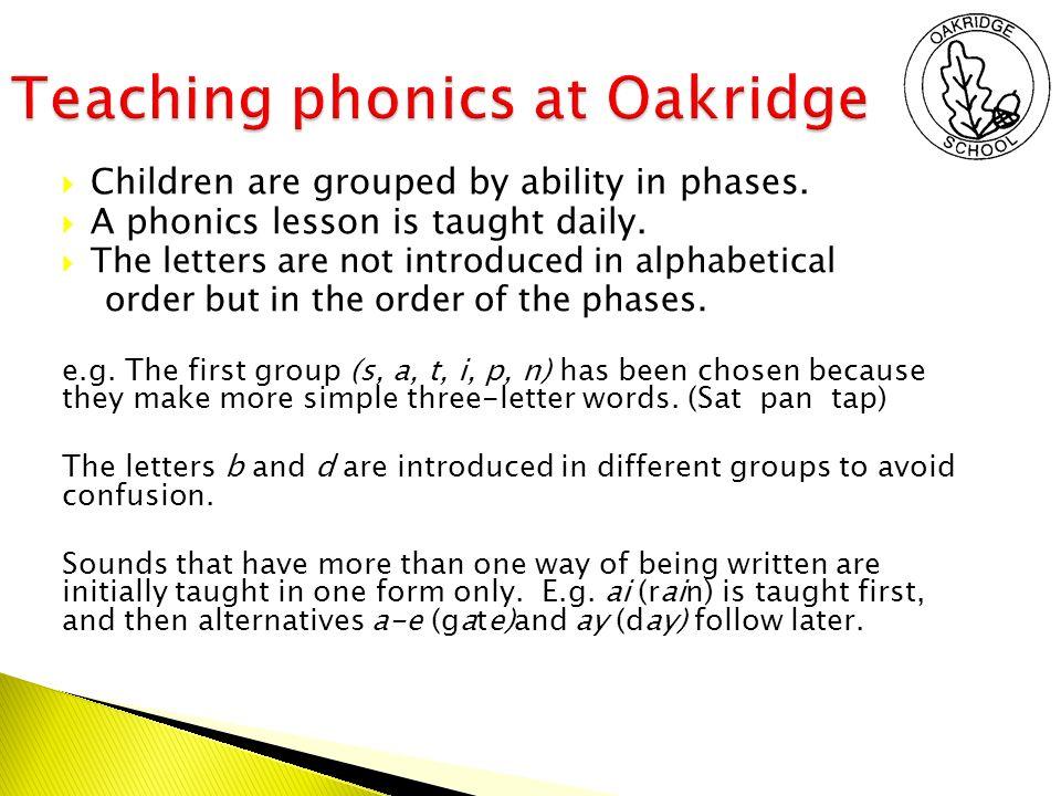 24 Teaching Phonics At Oakridge
