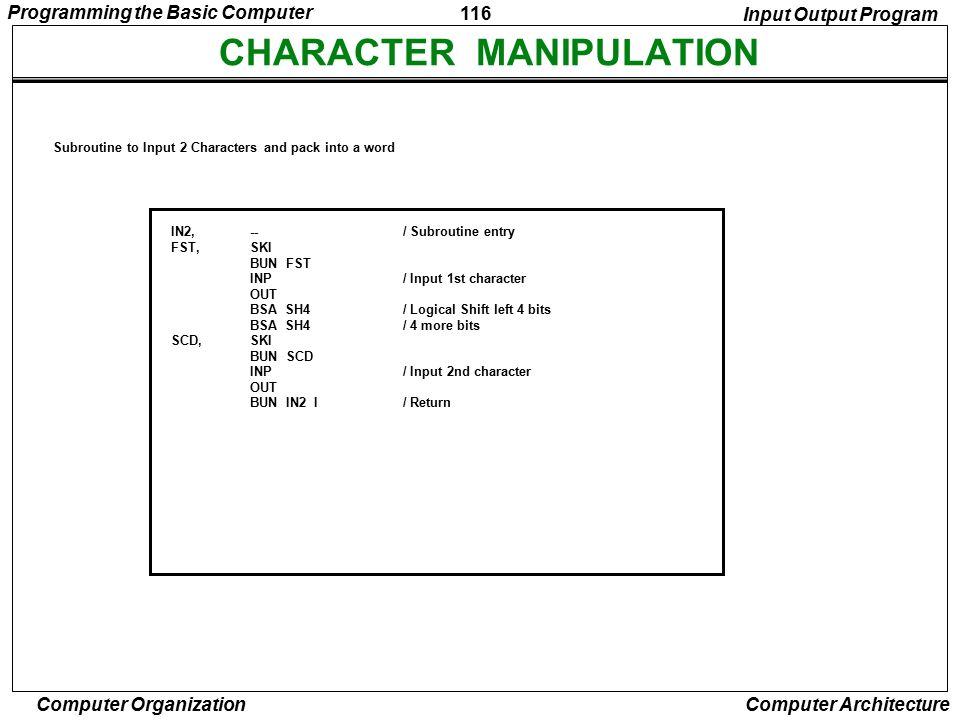 CHARACTER MANIPULATION