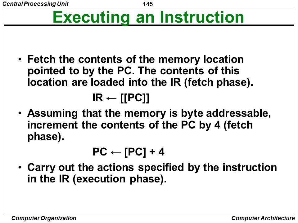 Executing an Instruction