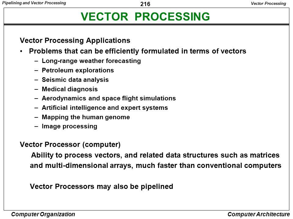 VECTOR PROCESSING Vector Processing Applications