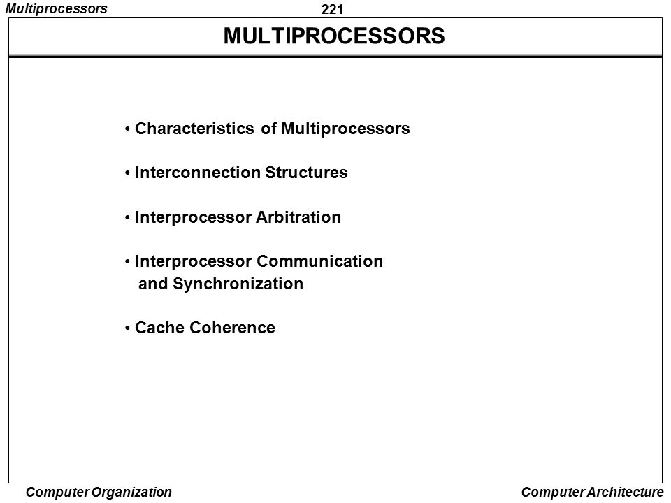 MULTIPROCESSORS Characteristics of Multiprocessors
