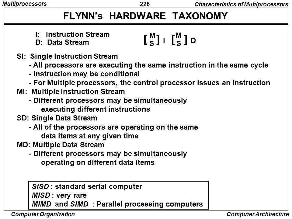 FLYNN's HARDWARE TAXONOMY