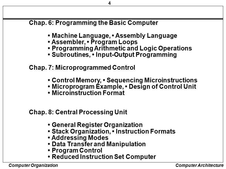 Chap. 6: Programming the Basic Computer