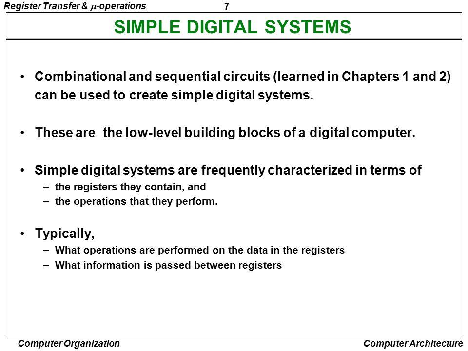 SIMPLE DIGITAL SYSTEMS