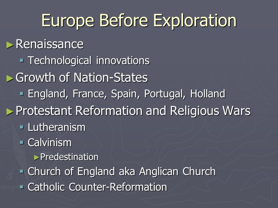 the impact of the exploration and reformation in the european history Narrated by lasa hs teacher maricruz aguayo tabor, this video is a very brief introduction to the protestant reformation it is intended for use by lasa high school's ap world history students.