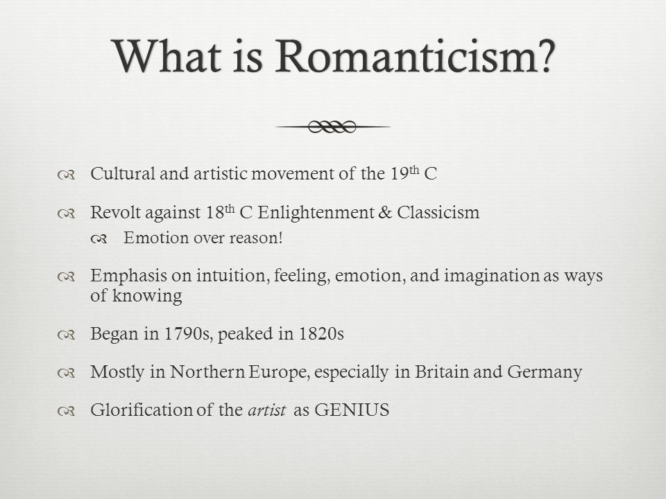 classicism and romanticism are artistic Neoclassicism vs romanticism neoclassicism and romanticism are two periods of artistic, literary, and intellectual movements that show some differences.