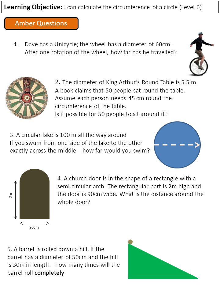 Learning objective i can calculate the circumference of a circle the diameter of king arthurs round table is 55 m sciox Choice Image