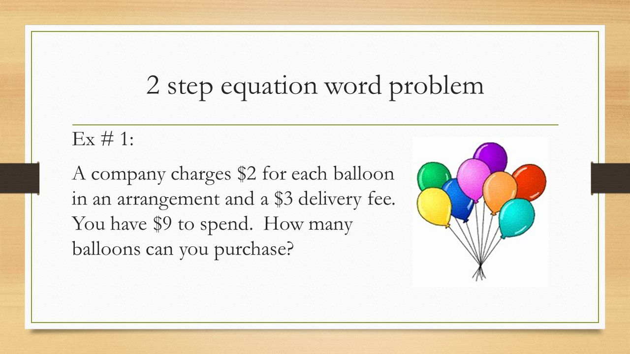 worksheet Two Step Equations Word Problems 2 step equations word problems ppt video online download problems