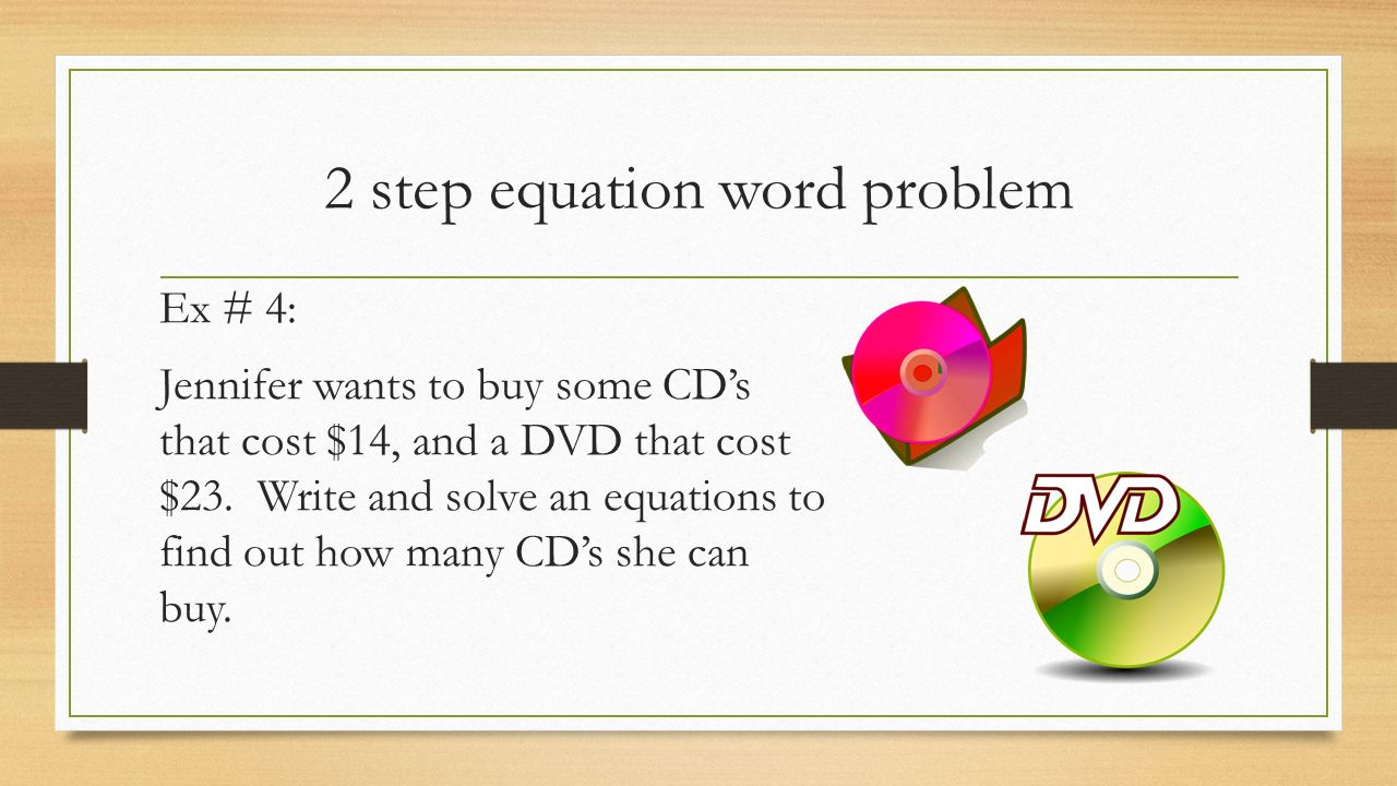 Two Step Equation Word Problems - YouTube