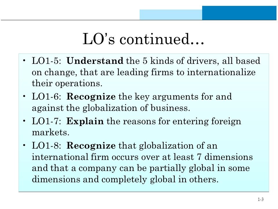 list six reasons to internationalize operations International taxation and initial foreign entries 4 list of figures and tables table 1: correlations table.