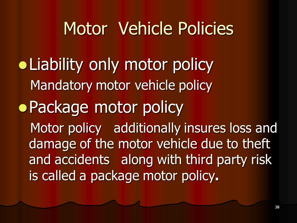 Basics of insurance ppt video online download for Third party motor vehicle