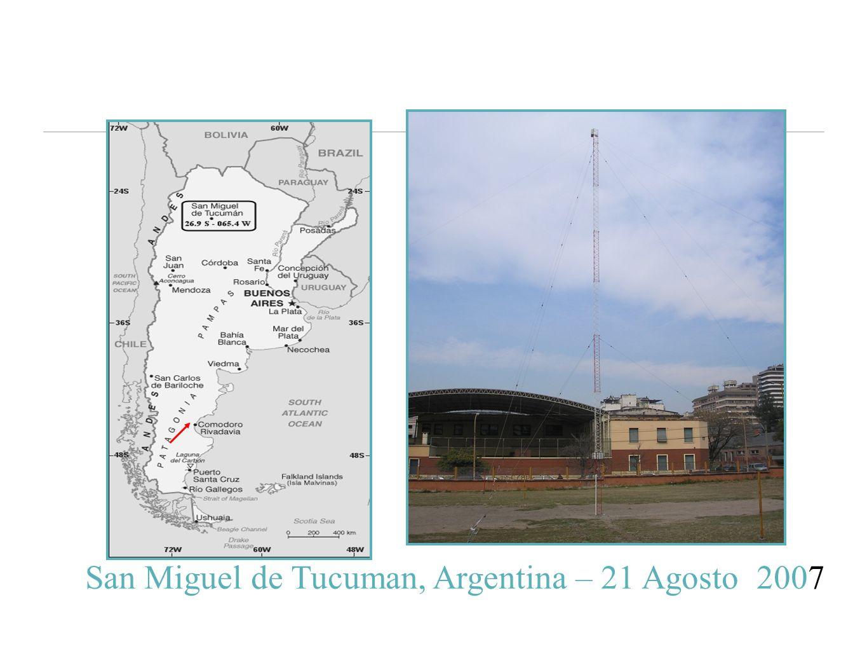 San Miguel de Tucuman, Argentina – 21 Agosto 2007