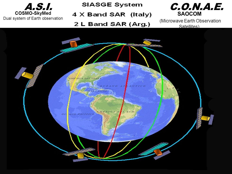 A.S.I. C.O.N.A.E. SAOCOM (Microwave Earth Observation Satellites)
