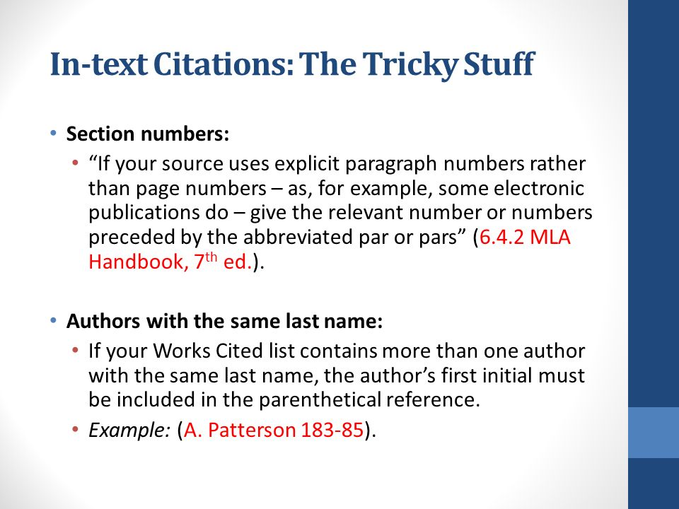 in text citations mla website example