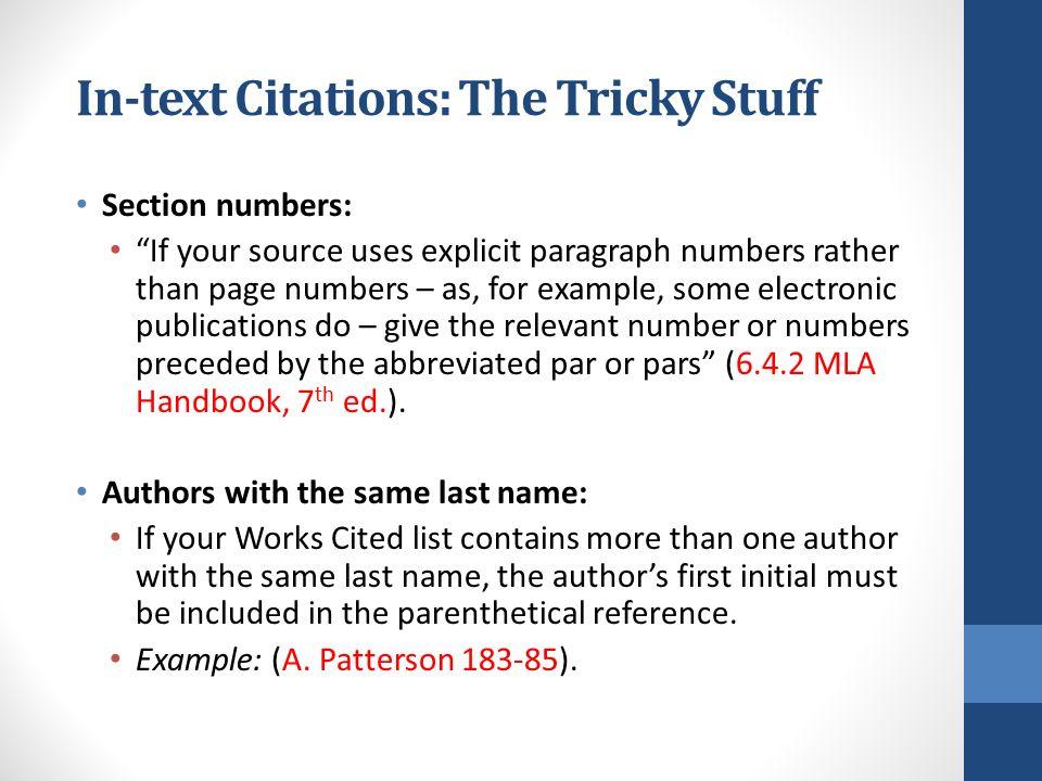 mla essay page numbering