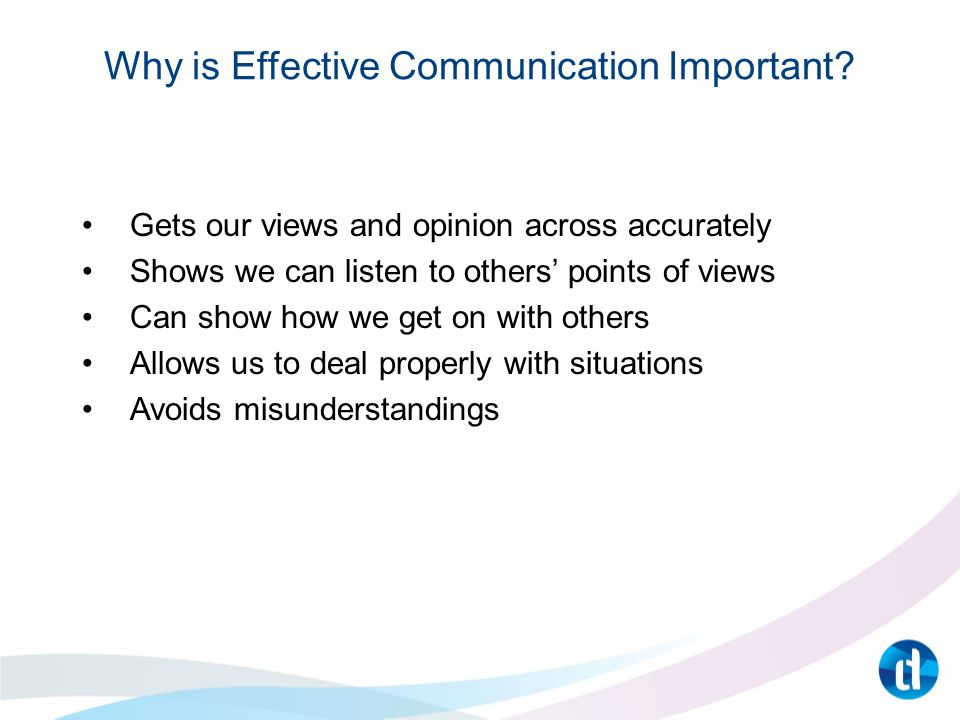 why communication is important essay Communication is an aid used in everyday lifeâbe it personal or business in the business world, good communication is important for the daily operation of the company, but can also affect sales and profitability.