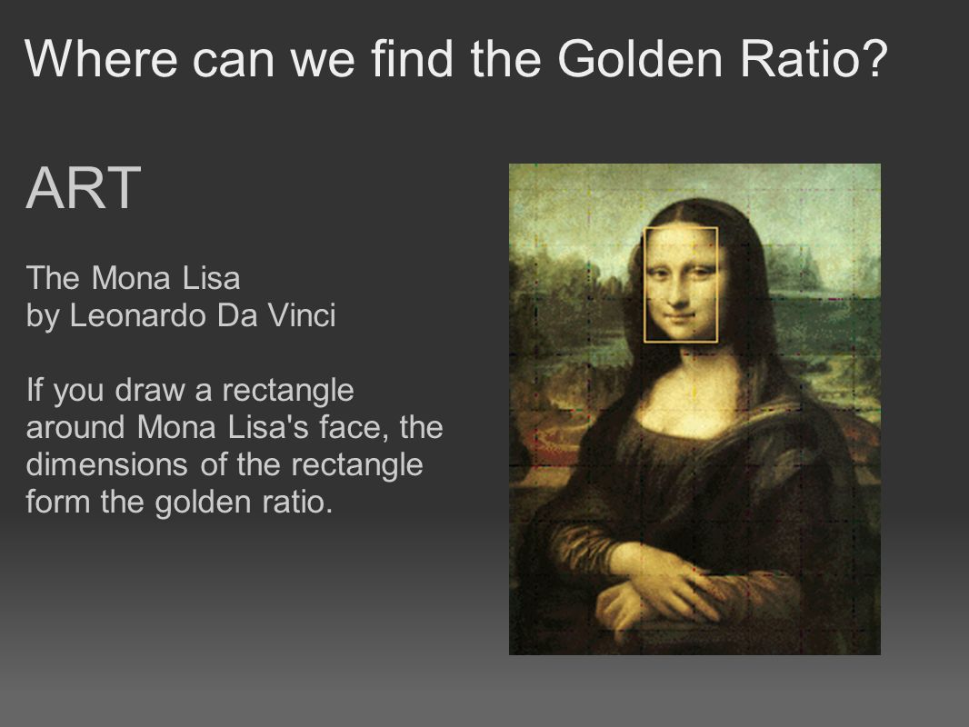 the golden ratio math in beauty art and architecture