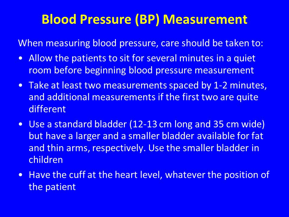 Blood Pressure (BP) Measurement