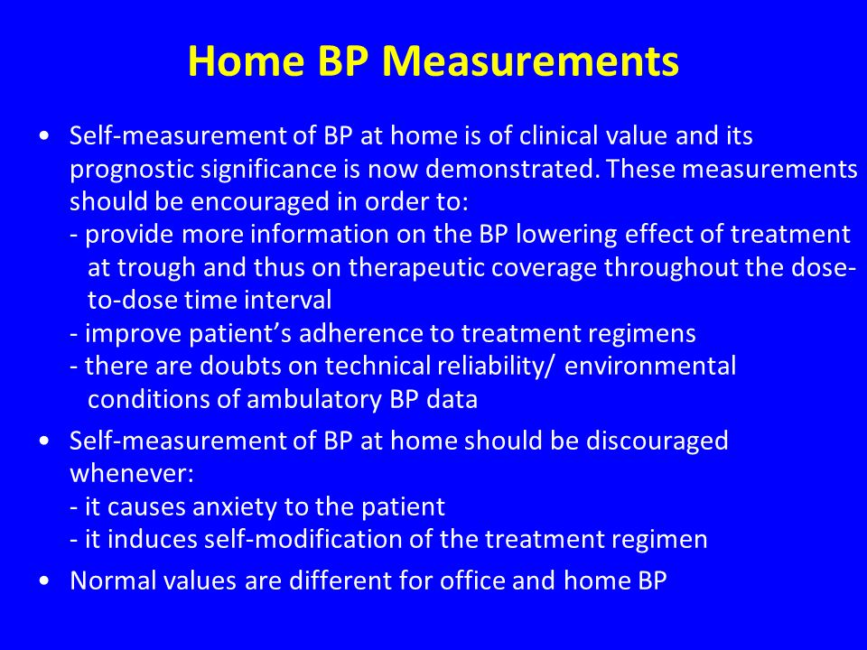 Home BP Measurements