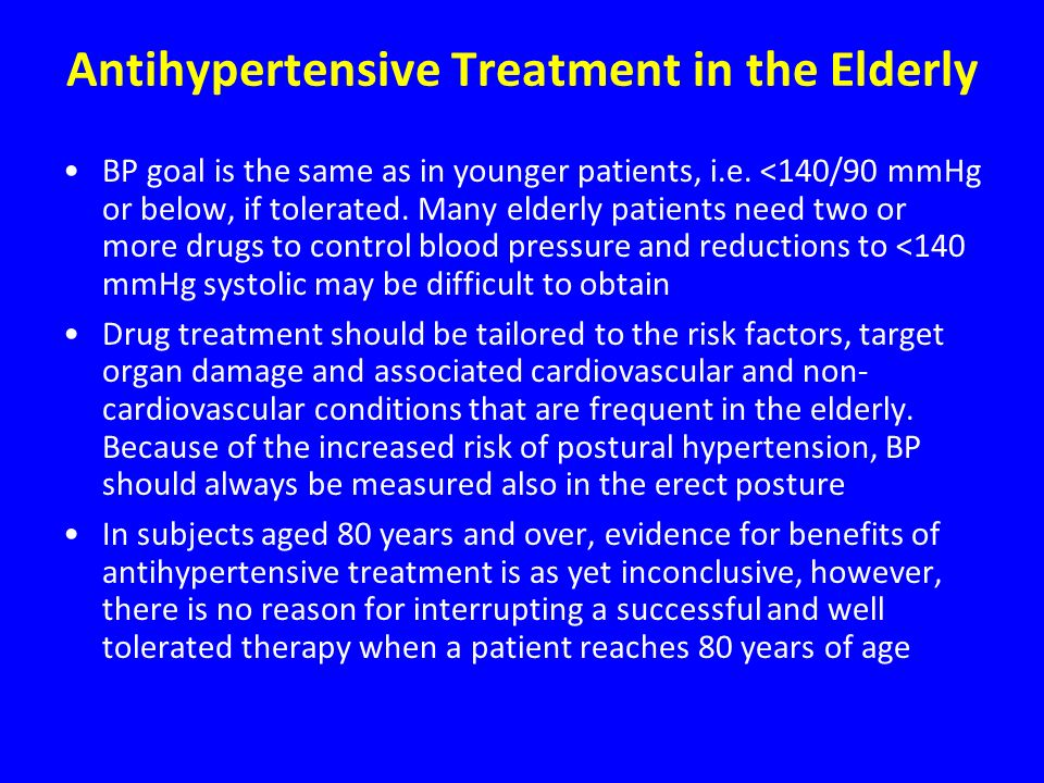 Antihypertensive Treatment in the Elderly