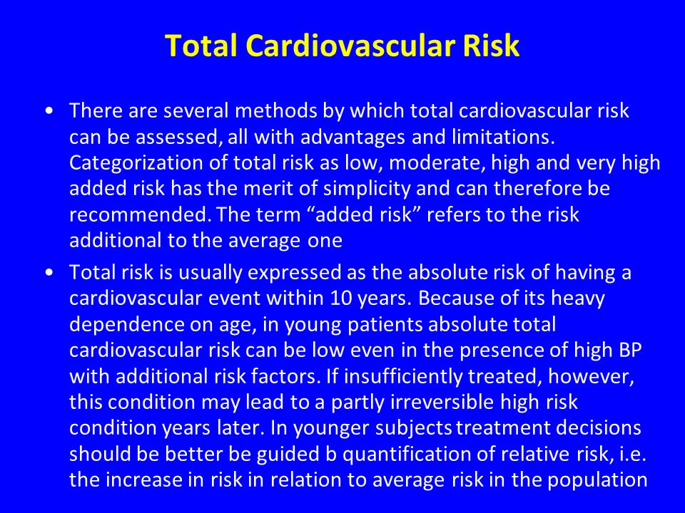 Total Cardiovascular Risk