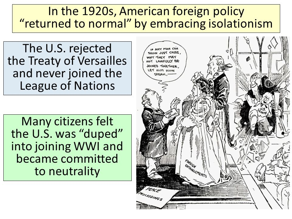 us isolationism 1910s and 1920s A cultural history of the united states 1910-1920 the clash of cultures in the 1910s and 1920s: an internet documentary [splash and navigation page for an excellent study of conflicting forces in early 20th-century american society.