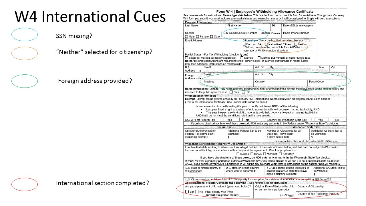 Onboarding international employees payroll forms ppt video w4 international cues ssn missing neither selected for citizenship ccuart Images