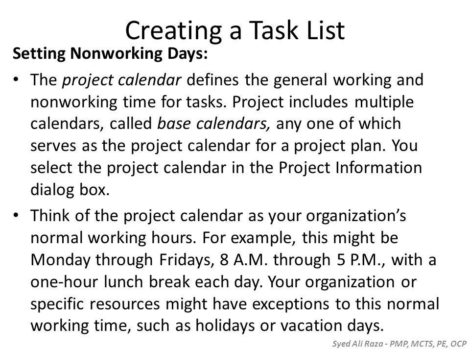 how to adjust break hours microsoft project