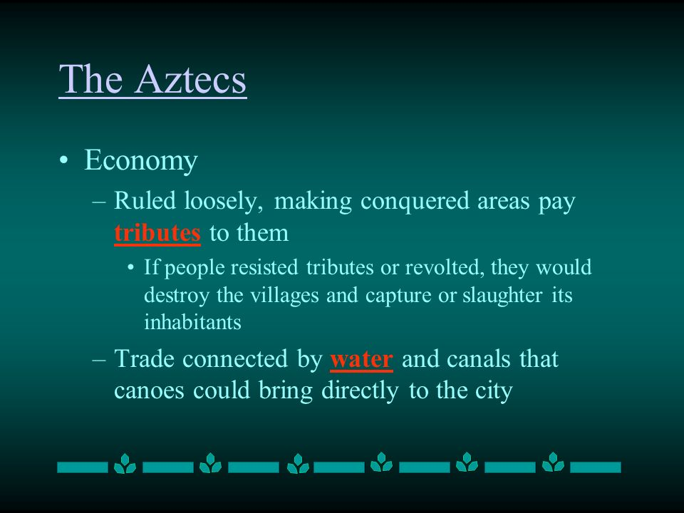 Aztec economic and trade system