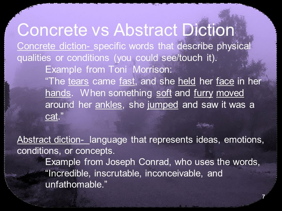 Diction ppt download for Concrete diction