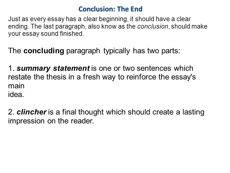 how to start a concluding summary