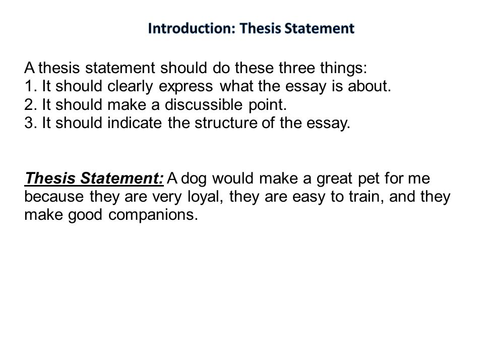 introduction to thesis statement