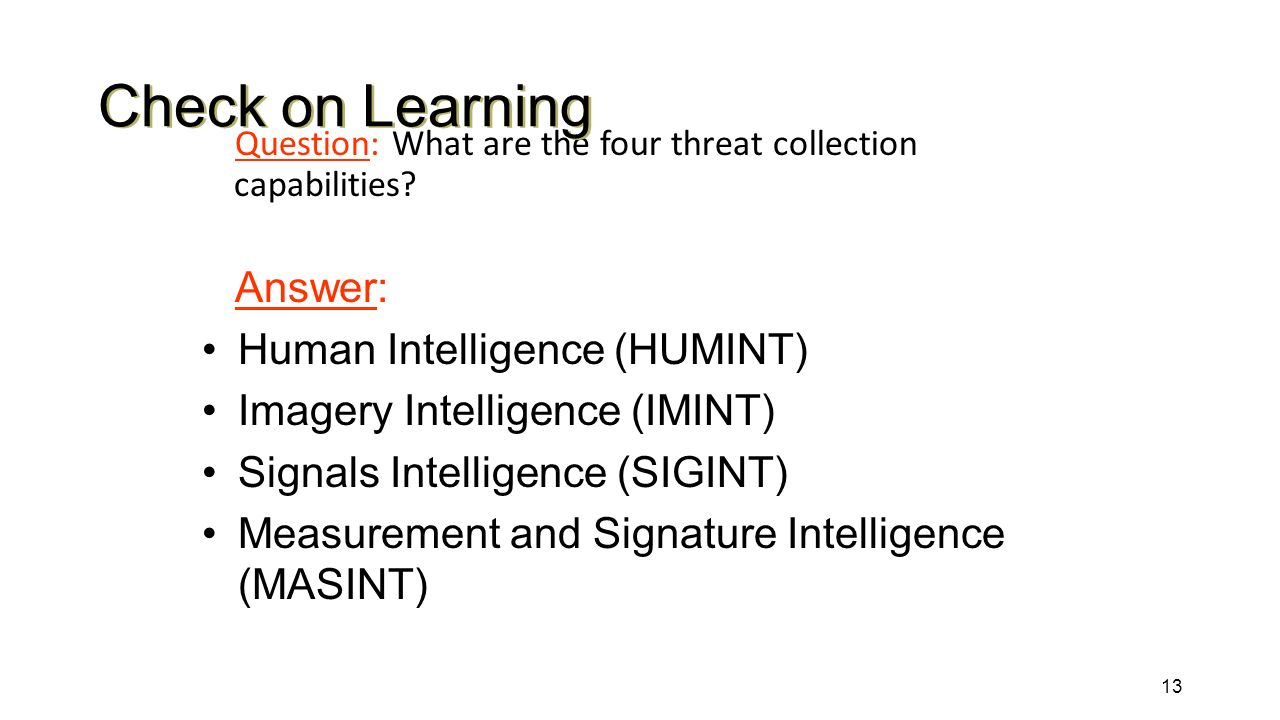 Human intelligence collection essay