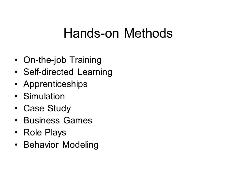 case study of training methods Methods these may include grounded theory, phenomenology, discourse analysis and case study, for example reasonable goals for the learner would be to explore.