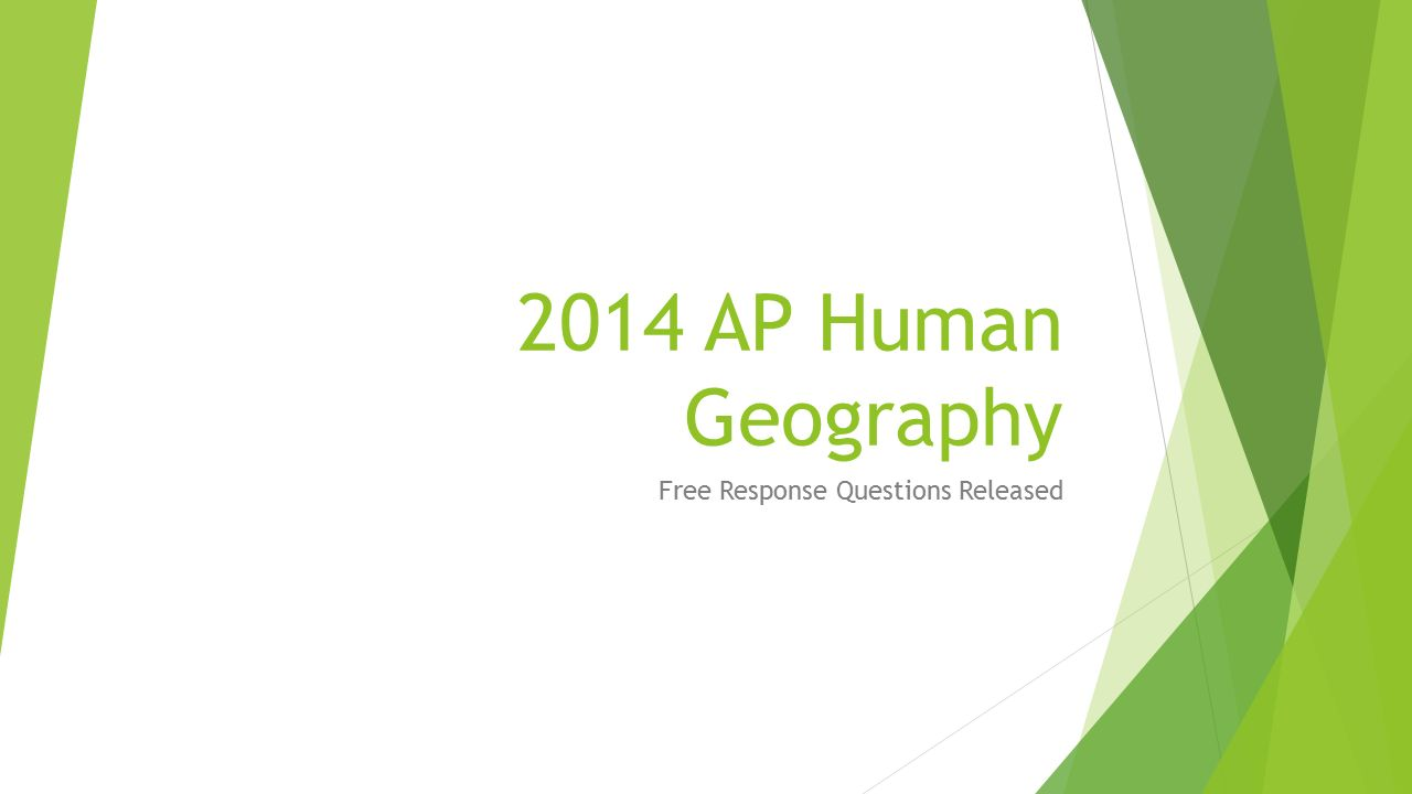 Free Response Questions Released
