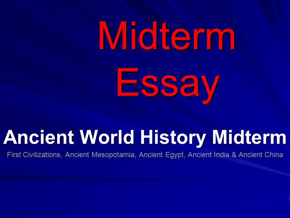 world civilization essay questions