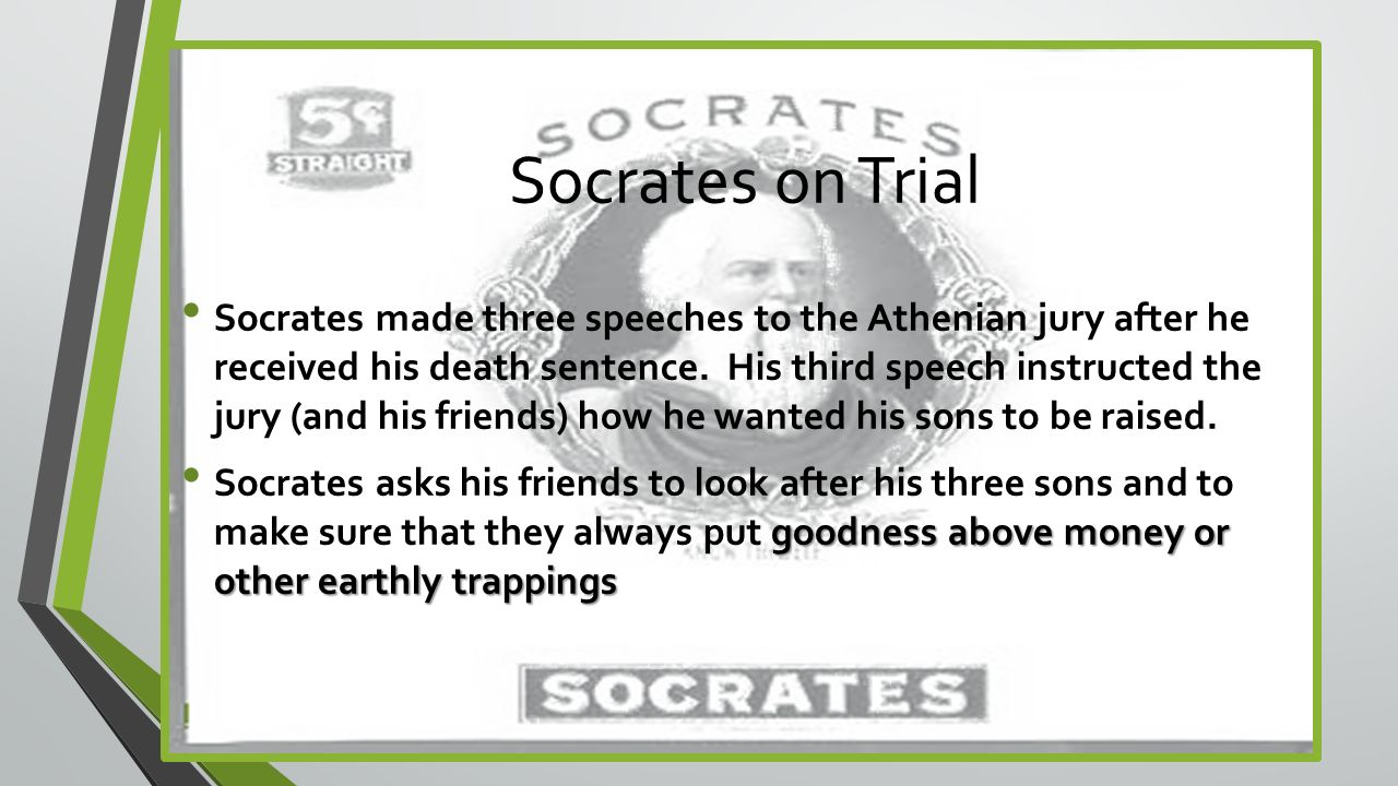 did socrates commit suicide Aristotle on voluntary euthanasia/assisted suicide  claiming that those who commit such actions are merely cowards who rob society of their positive contributions.