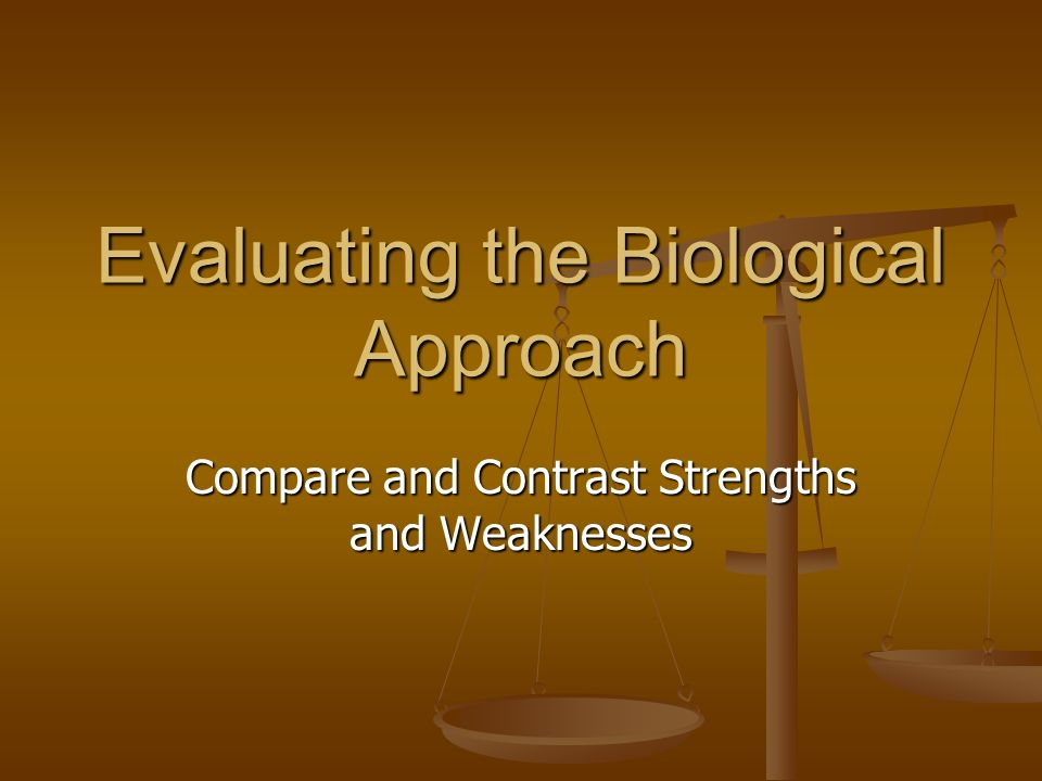 strengths and weaknesses of the biological What do you think are the strengths and weaknesses of biological theory why response should be 200-300 words need this - answered by a verified tutor.