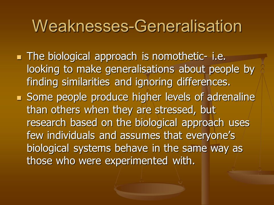 3 Strengths & Weaknesses (Biological Approach) Flashcards Preview
