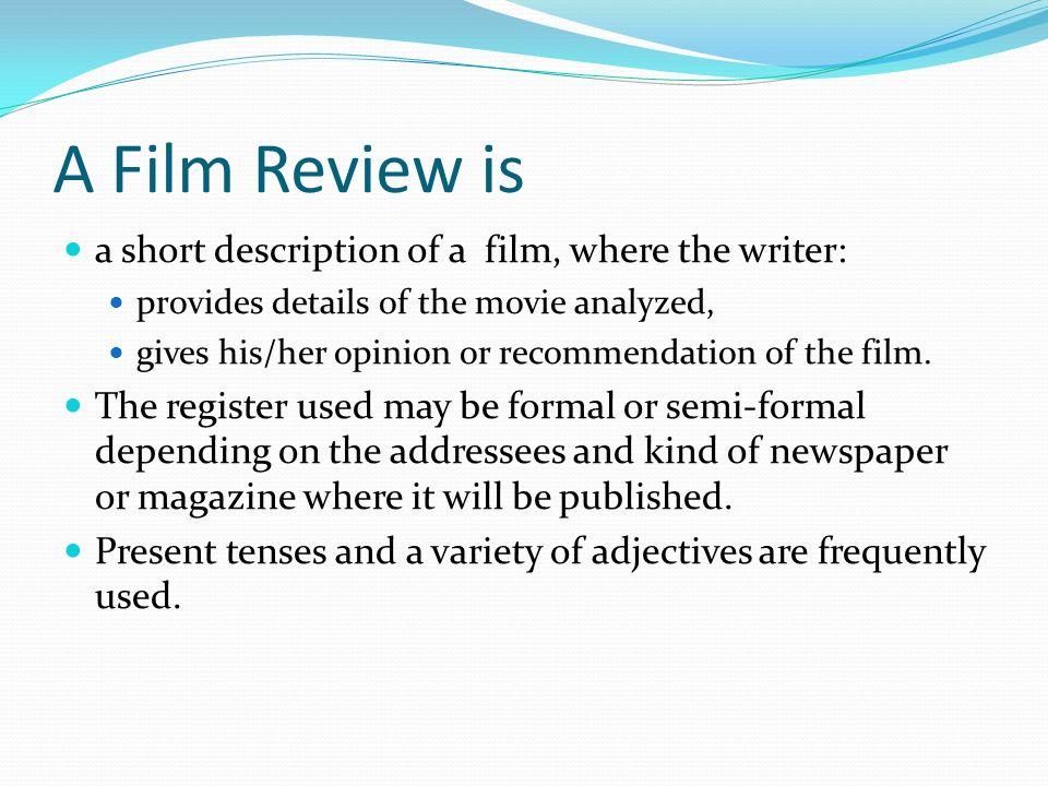 how to write a short movie