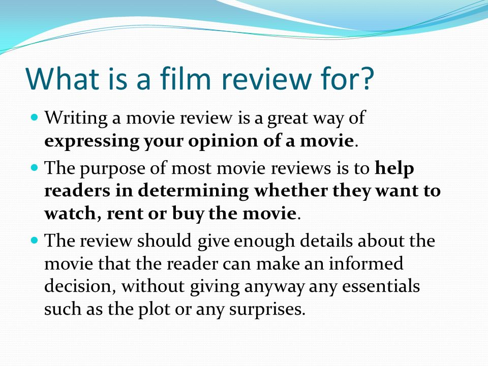 How to Write a Short Film Review