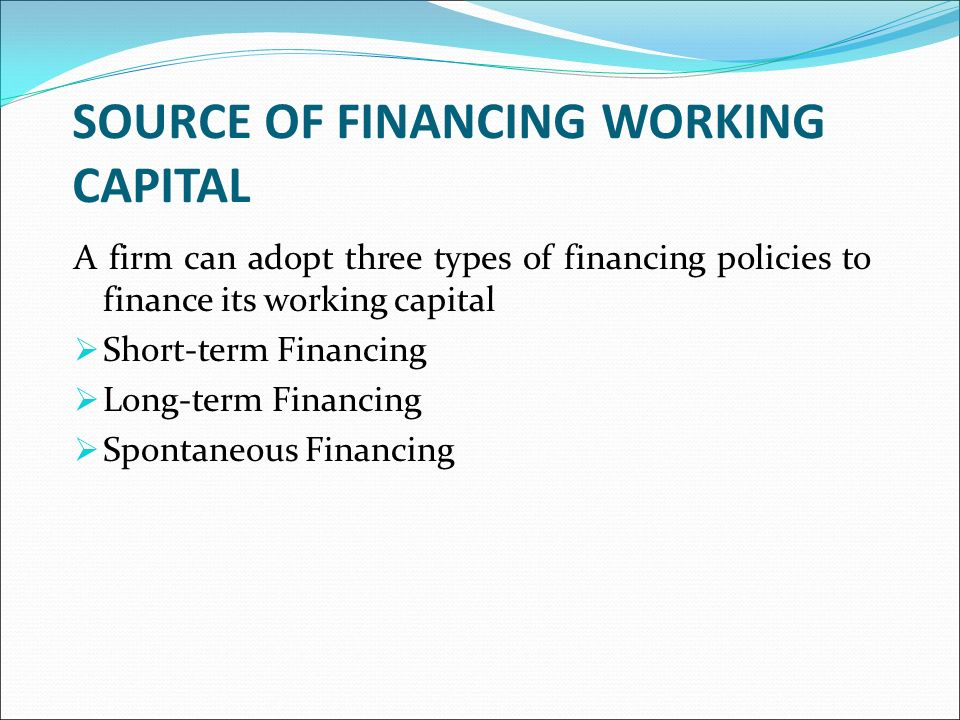 sources of finance and working capital management finance essay Sources of business finance  the aim of this paper was thus to evaluate alternative sources of finance to inform on when a particular mode  nber working paper.