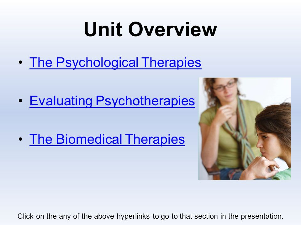 how does psychotherapy differ from biomedical therapy Effective treatments for ptsd include different types of psychotherapy brief eclectic psychotherapy (bep) a therapy in the national center for ptsd does.