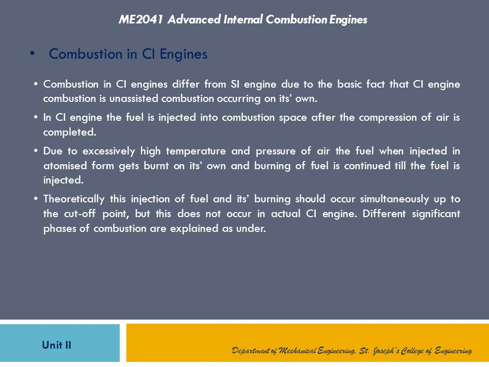 combustion in ci engines Introduction alcohols as substitute fuels for ic engines distillation of alcohol   use of blends performance of engine using ethanol alcohols in ci engine.