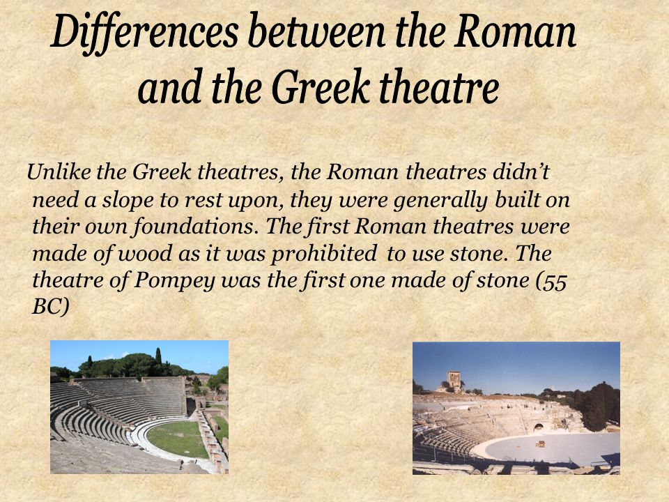 differences between greek and roman cultures Romans vs greeks while ancient greece and ancient rome are often confused for one another, there are many differences between the two  both countries are.