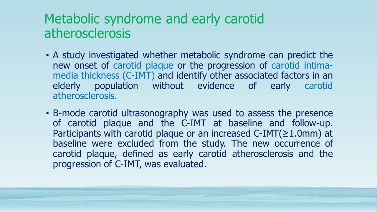 Progression of carotid atherosclerosis and its ...