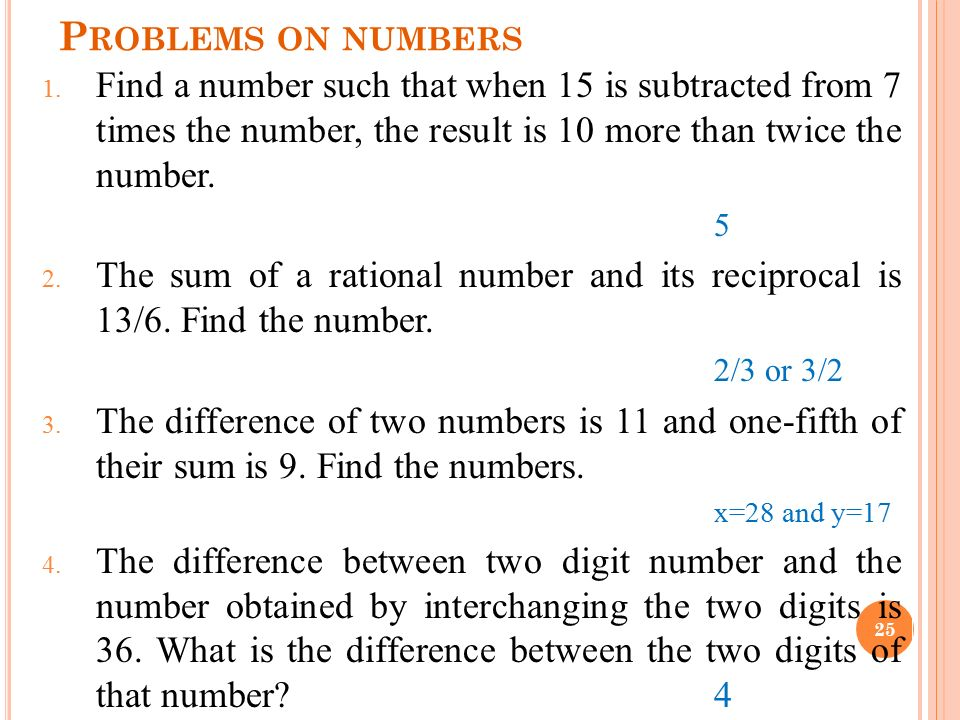how to find one fifth of a number