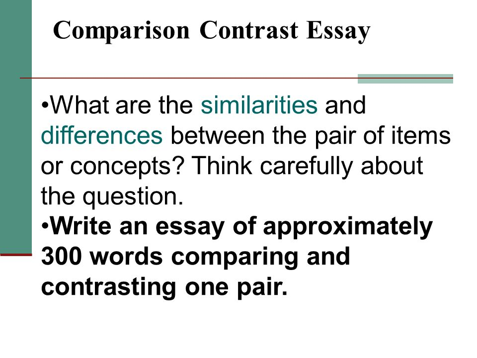 free compare and contrast examples