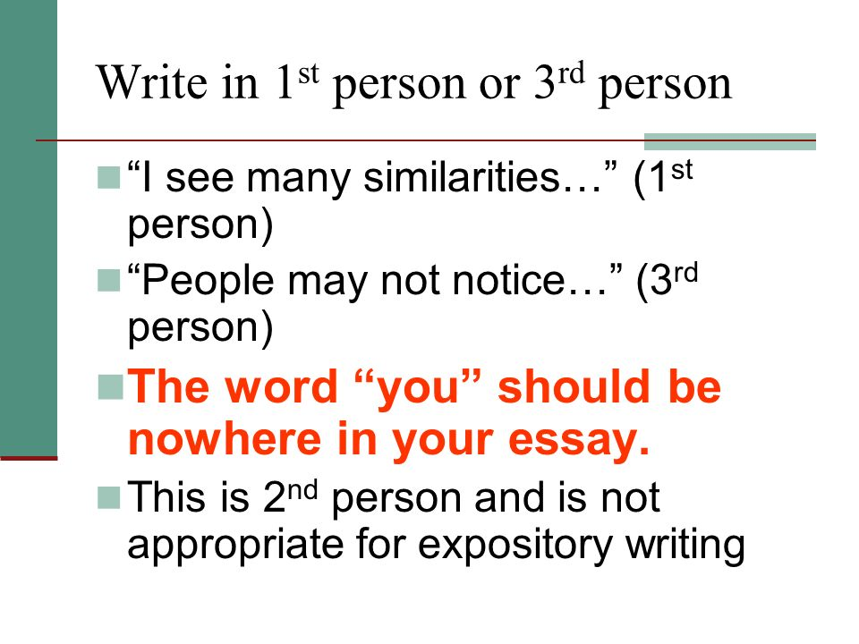 Persuasive essay first second or third person